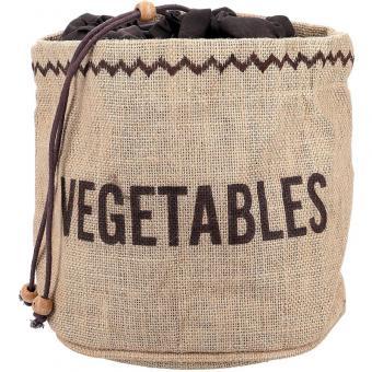 KitchenCraft Gemüsevorratsbeutel 20x20 cm Jute