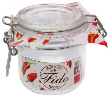 Einkochwelt Drahtbügelglas Fido rund 255 ml