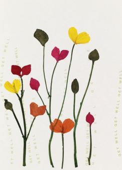 Räder Herzblüten Karte Mohnblumen