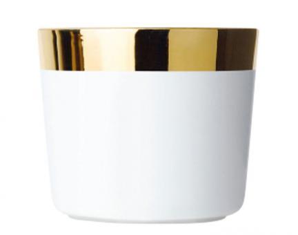 Sieger by Fürstenberg Temptation Sip of Gold Becher ohne Henkel White Plain