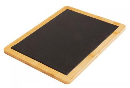 Westmark Servierplatte Tapas + Friends Schiefer in Bambus 32x25x1,2 cm