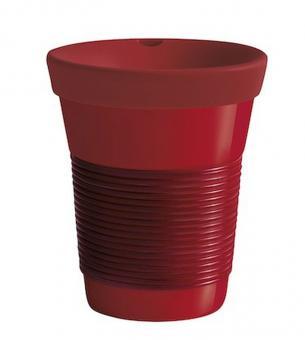 Kahla Becher 0,35 l + Trinkdeckel Cupit / Magic Grip dark cherry & red