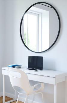 Umbra Wandspiegel D 61 cm Hub schwarz