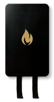 Nordic Flame Löschdecke Schwarz/Gold 1,2 m x 1,2 m