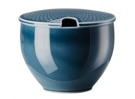 Rosenthal Selection Junto Ocean Blue Zuckerdose mit Einschnitt