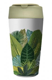 chic.mic ToGo-Becher 420 ml Bioloco Plant Deluxe exotic leaves
