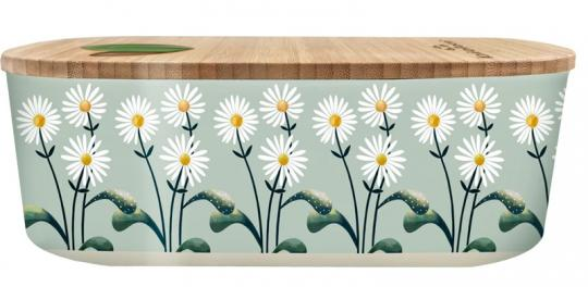 chic.mic Lunchbox oval 800 ml Bioloco Plant daisies