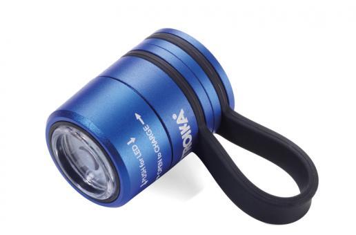 Troika Taschenlampe / Sport- und Sicherheitslicht, 3 Leuchtfunktionen, aufladbar blau/schwarz