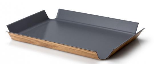 Continenta Rutschfestes Tablett 54,5x40 cm grau