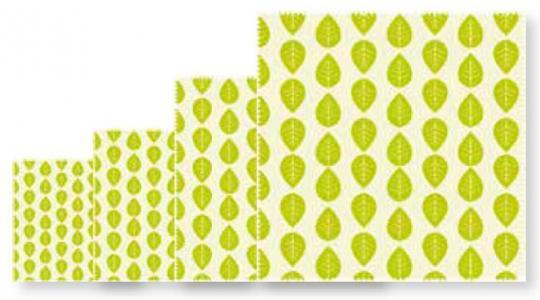 Beeswax Wraps Set 4tlg. Vegan Wrap Leaf