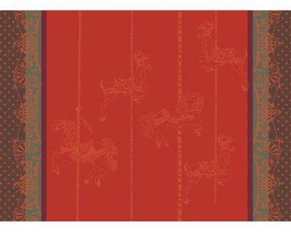 Garnier-Thiebaut Tischset Carrousel Noel 55x40 cm Baumwolle Gs
