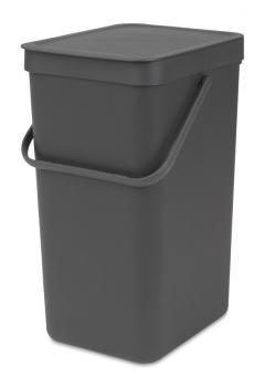 Brabantia Abfallbehälter Sort & Go 16 L inkl. Wandbefestigung Grau