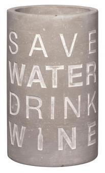 Räder P.e.t. Vino Beton Weinkühler Save water ca. 21 cm hoch