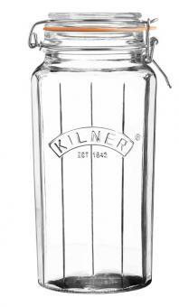 Kilner Facetten-Glas mit Bügelverschluss 1,8 L. , 13,5x12x26,2 cm