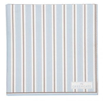 Greengate Servietten 25x25 cm Tova pale blue 20pcs