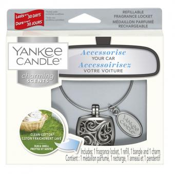 Yankee Candle Duftanhänger Square Kit Clean Cotton