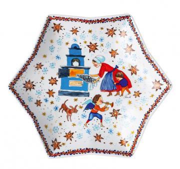 Hutschenreuther Sternschale 24 cm Sammelkollektion 2020 Weihnachtsbäckerei