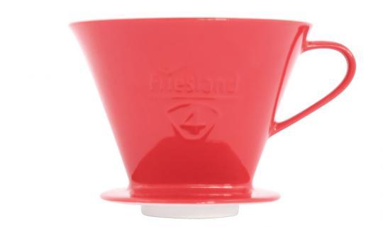 Friesland Kaffeefilter 1x4/F.70 Porzellan Rot