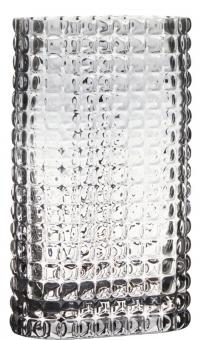 Hakbijl Vase rechteckig Bubble Grey H 25 cm Ø 15x8,5 cm