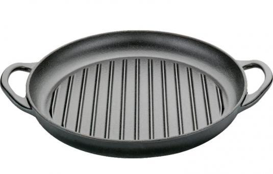 Küchenprofi Grillpfanne 30 cm mit Griffen schwarz
