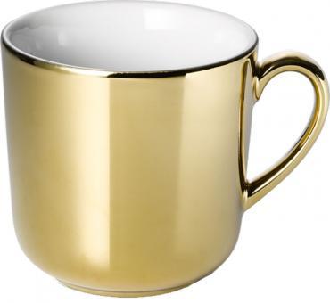 Dibbern Solid Color Gold Becher mit Henkel 0,32 L