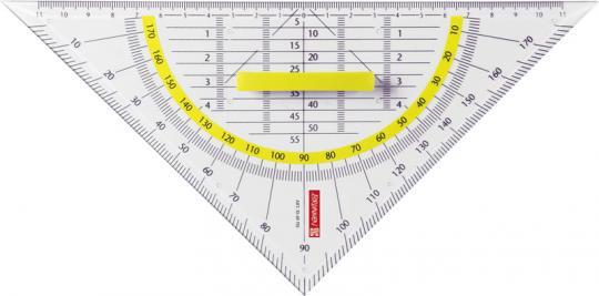 Brunnen Geometrie-Dreieck 22 cm Griff klar