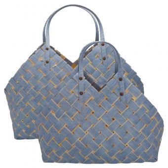 Greengate Tasche mit Henkel klein dusty blue ca. 45x12x44 cm