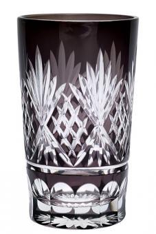 Greengate Wasserglas Leaf grey crystal large
