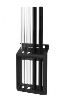 Gefu Glastrinkhalm Future 23 cm 4 Stk. mit Trinkhalmspülkorb Future & Bürste