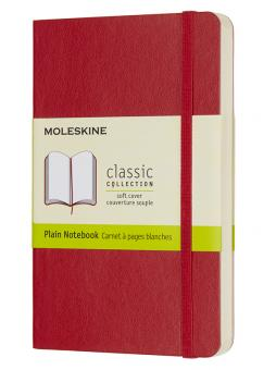 Moleskine Notizbuch P/A6 Blanko Soft Cover Scharlachrot