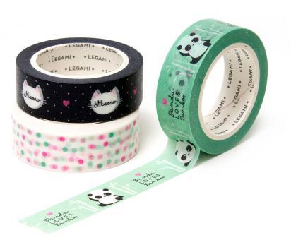 Legami Papier Band Tape By Tape 3er Set Panda&Friends