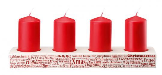 Hutschenreuther Merry Christmas Adventskerzenständer Nordic Red