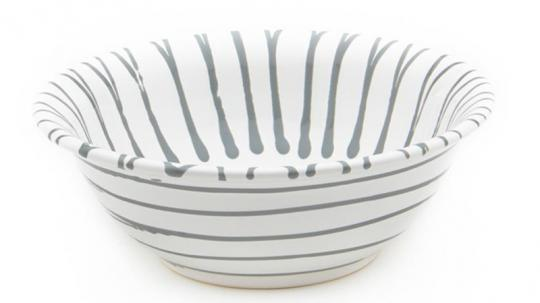 Gmundner Keramik Graugeflammt Salatschüssel 20 cm