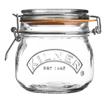Kilner Bügelverschlussglas rund 500 ml, 12,5x11x11,3 cm