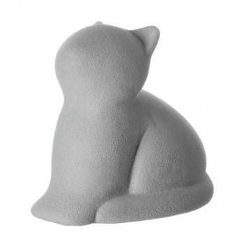 Leonardo Katze 11 cm Grau Beflockt Micia