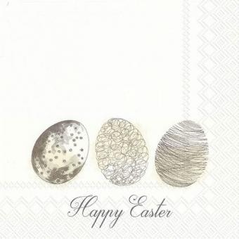 IHR Lunch-Servietten 33x33 cm Easter Morning Eggs Linen