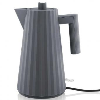 Alessi Plisse' Elektrischer Wasserkessel 1 L Grau