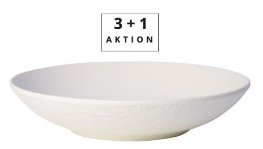 Villeroy & Boch Aktion 3+1 Schale Flach Manufacture Rock Blanc
