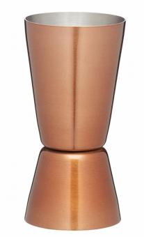 KitchenCraft Doppel-Barmaß 25 und 50 ml Maß Kupfer