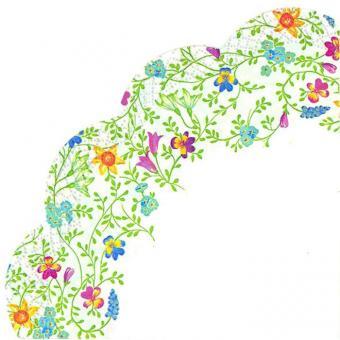 IHR Rondo-Servietten Ø 34 cm Pretty In Spring