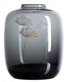 Räder LIving Glasvase Pusteblume H 15 cm Ø 12 cm grau