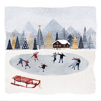Paperproducts Design Servietten 33x33 cm Mountain Skating