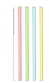 Leonardo Glastrinkhalme Ciao 4 Stück 20 cm farbig + Reinigungsbürste