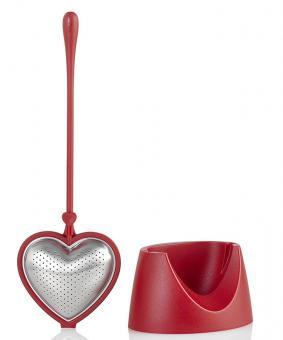 AdHoc Teefilter Big Heart Rot Kunststoff/Edelstahl