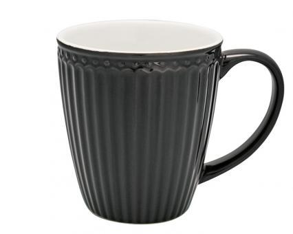 Greengate Becher Alice dark grey H 9,5cm