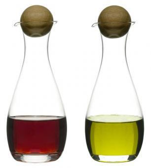 Sagaform Oak Öl-/Essigflasche 2-tlg. oval