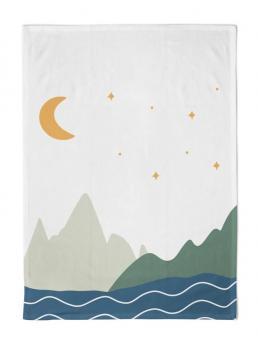 chic.mic Geschirrtuch 50x70 cm Organic Kitchen Moon & mountains