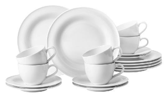 Seltmann Beat Kaffeeservice 18-tlg. Weiss