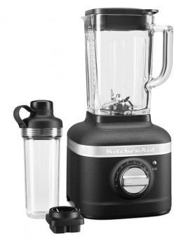 KitchenAid Artisan Standmixer K400 Artisan Gusseisen schwarz mit Behälter zum Mitnehmen