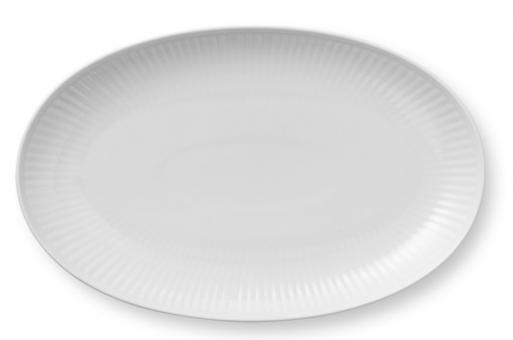 Royal Copenhagen White Fluted Platte Oval 23 cm